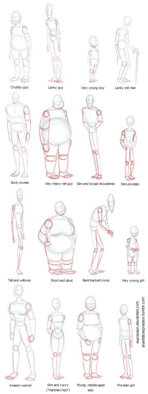 HOW TO DRAW BODY SHAPES: 30 Tutorials For Beginners - Bored Art