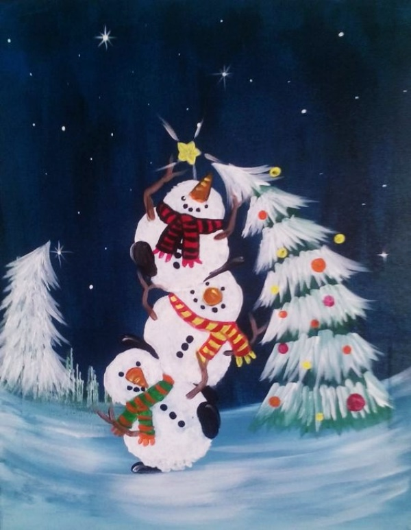 Easy Christmas Paintings.40 Beautiful Christmas Painting Ideas To Try This Season