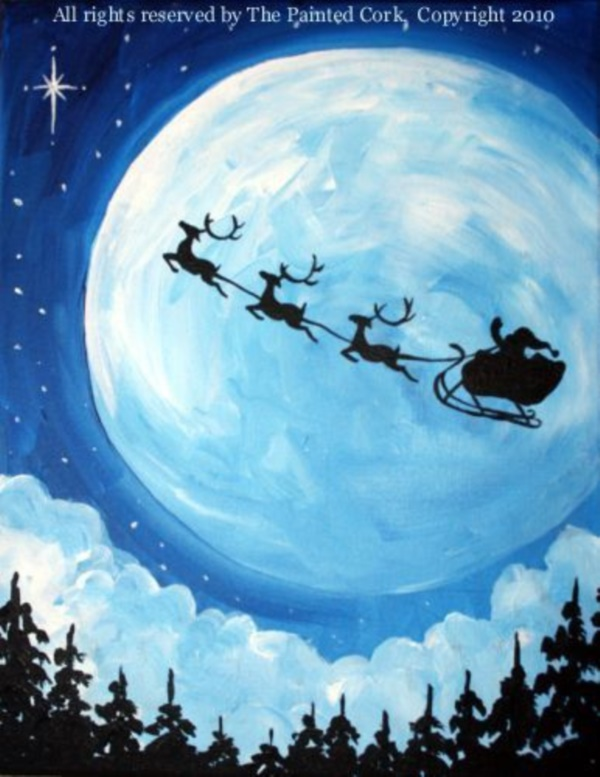 40 Beautiful Christmas Painting Ideas to Try This Season