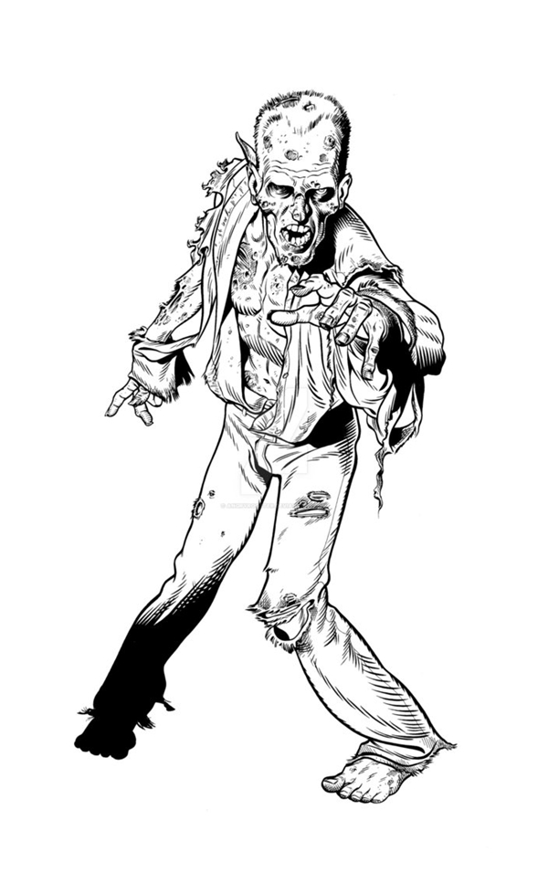 40 Insanely Cool Zombie Drawings and Sketches - Bored Art