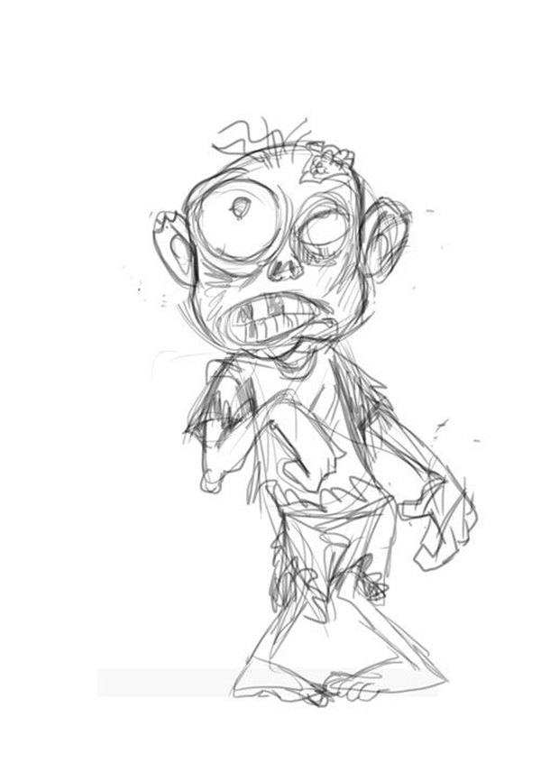 It's just a graphic of Nifty Zombie Drawing Simple