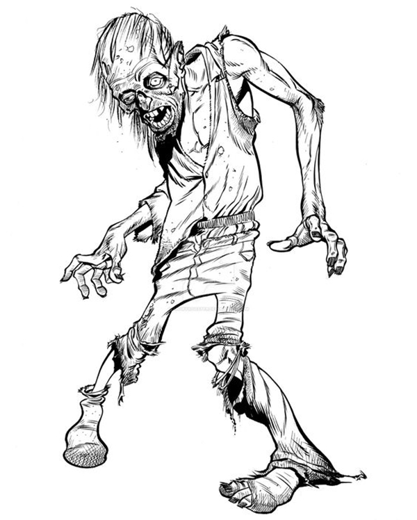 40 Insanely Cool Zombie Drawings And Sketches