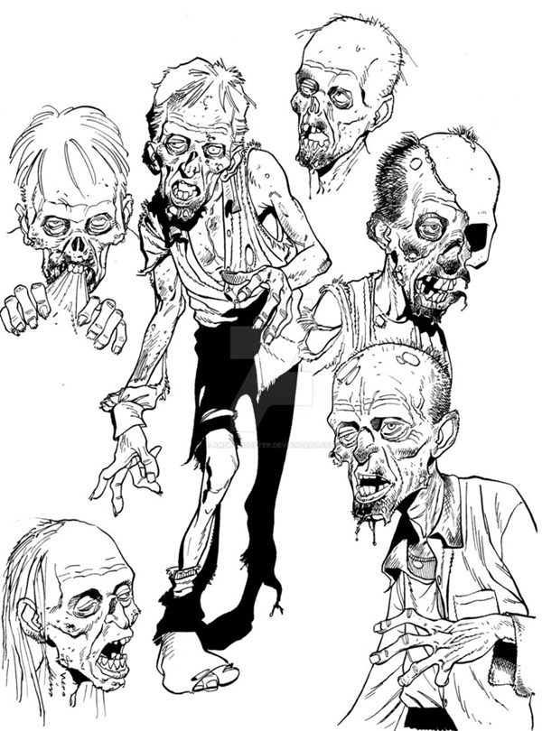 40 Insanely Cool Zombie Drawings