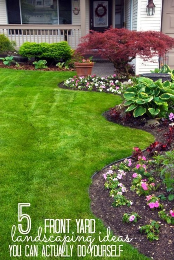 40 Beautiful Small Front Yard Landscaping Ideas - Bored Art on Small Landscape Garden Design  id=92571