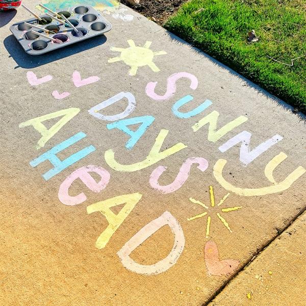 11. DIY Sidewalk Chalk Paint