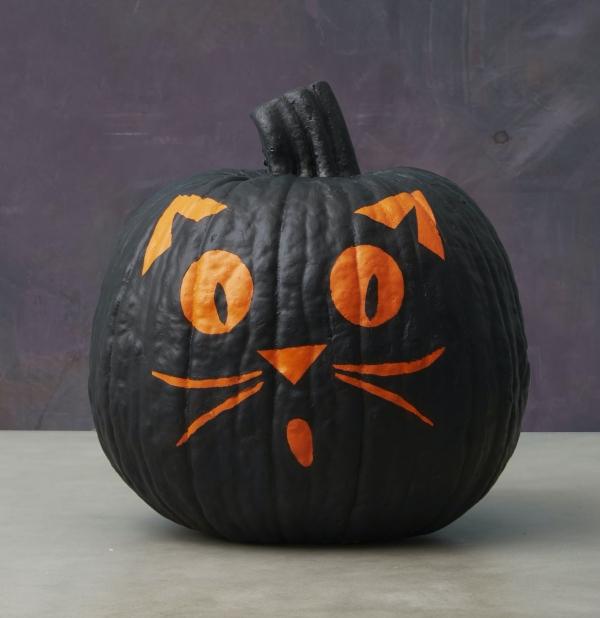 16. Creative Cat Pumpkins for Kids