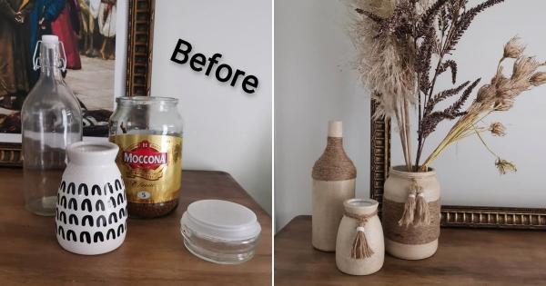 17. DIY Upcycle Jar to Flower Vase