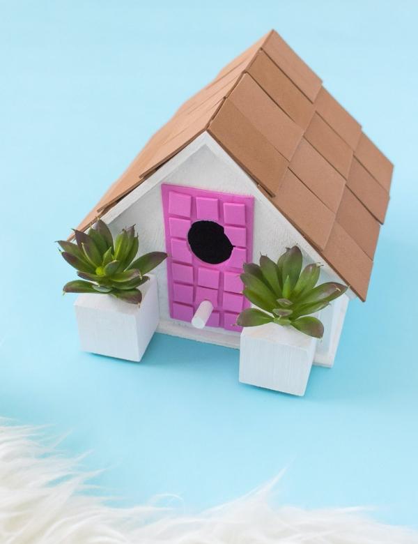 2. Pink Door DIY Palm Springs Birdhouse
