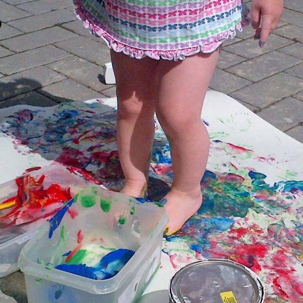 20. Painting with Feet